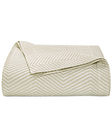 CLOSEOUT! Hotel Collection  Woven Accent Quilted King Coverlet, Created for Macy's