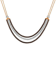 Le Vian Chocolatier® Diamond Three Row Choker Necklace (2-1/8 ct. t.w.) in 14k Rose Gold
