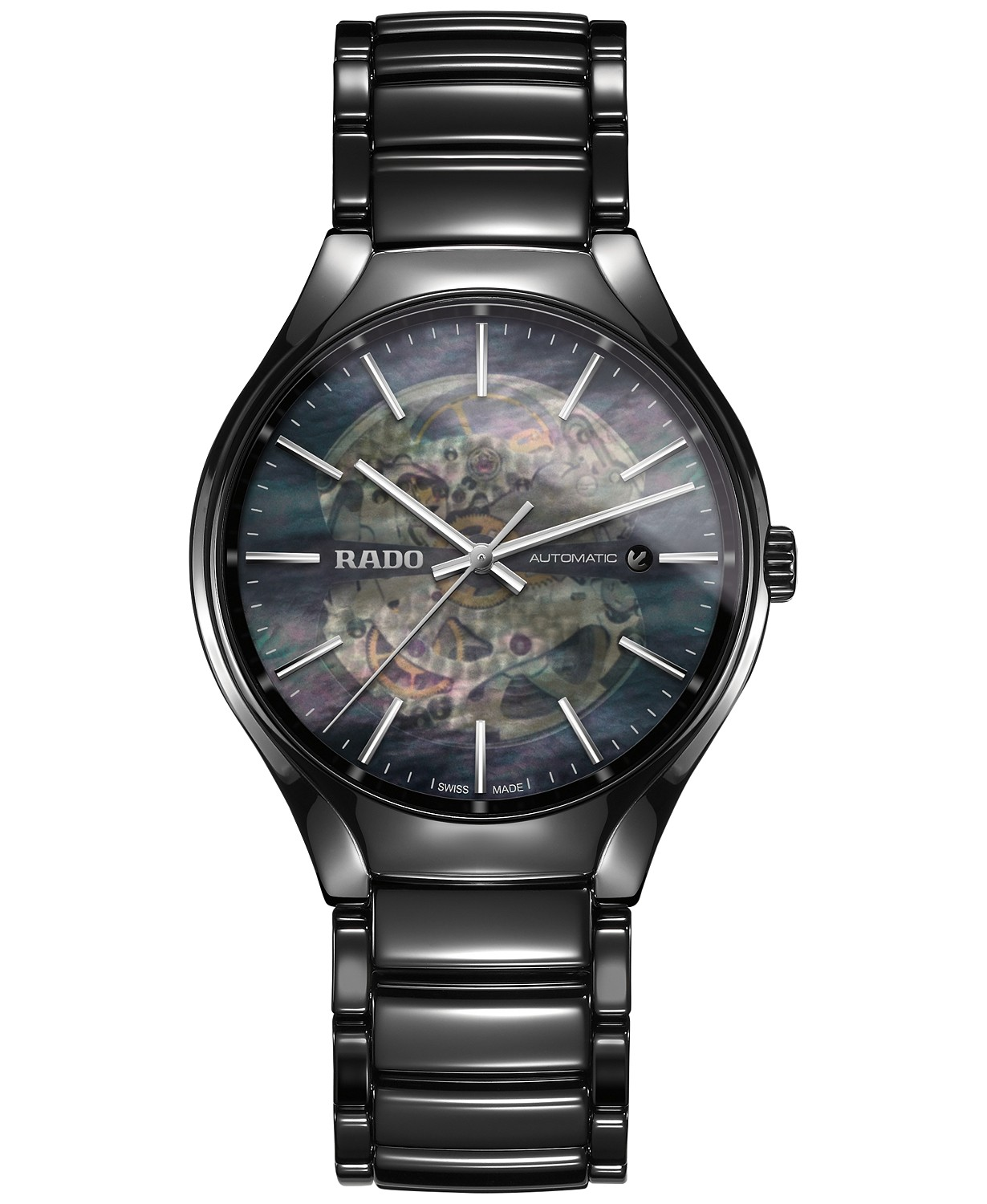 Rado Black Mother of Pearl Dial Automatic Men's Ceramic Watch