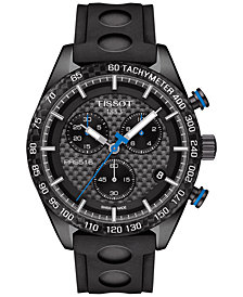 Tissot Men's Swiss Chronograph PRS 516 Black Rubber Strap Watch 42mm T1004173720100