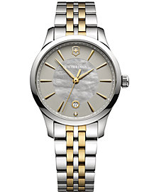 Victorinox Swiss Army Women's Alliance Diamond Accent Two-Tone Stainless Steel Bracelet Watch 35mm 241753