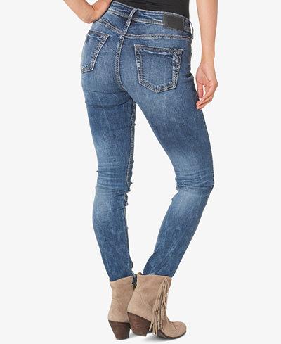 Silver Jeans Co. Suki Indigo Wash Skinny Jeans - Clearance - Women ...