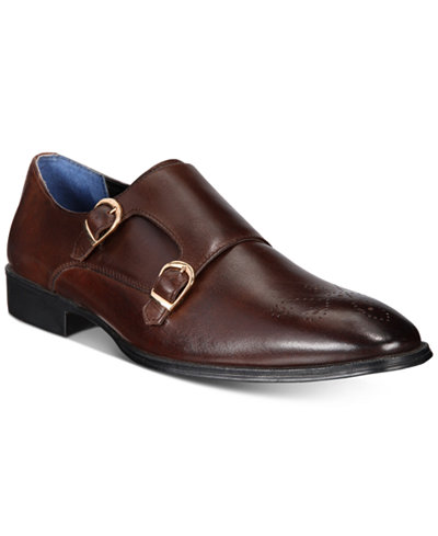 Bar III Men's Carrick Monk Strap with Medallion, Created for Macy's