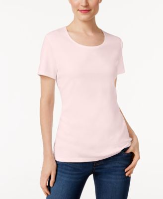 Image of Karen Scott Scoop-Neck T-Shirt, Only at Macy's