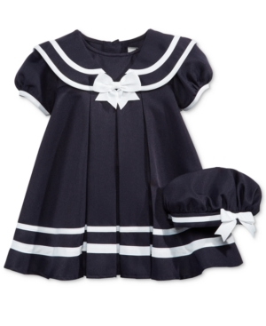 1930s Childrens Fashion: Girls, Boys, Toddler, Baby Costumes Rare Editions Cap-Sleeve Sailor Dress with Hat Baby Girls 0-24 months $24.99 AT vintagedancer.com