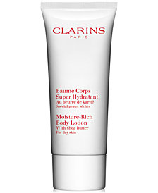 GET MORE! Receive a FREE Deluxe Moisture Rich Body Lotion with $99 Clarins Purchase!