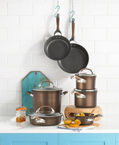Circulon Symmetry Chocolate 11-Pc. Cookware Set
