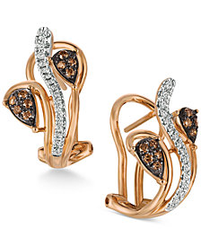 Le Vian Chocolatier® Diamond Vine Earrings (1/4 ct. t.w.) in 14k Rose Gold