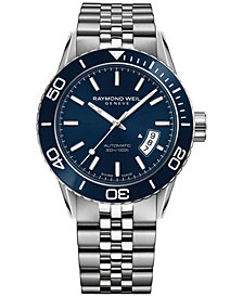 RAYMOND WEIL Men's Swiss Automatic Freelancer Stainless Steel Bracelet Watch 42mm 2760-ST3-50001