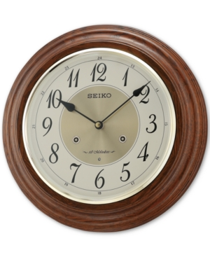 Seiko Oak Musical Wall Clock