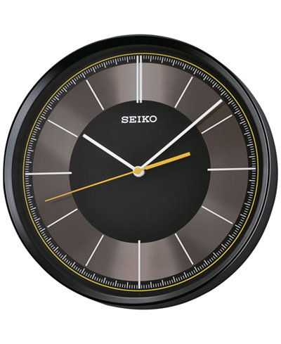 Seiko Black Resin Wall Clock