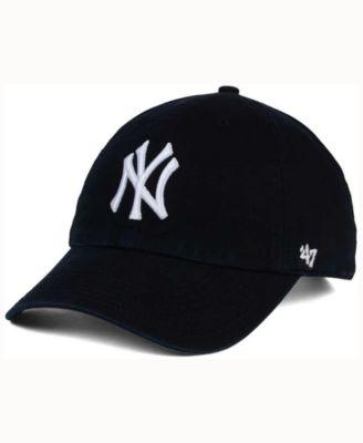 New York Yankees Black White CLEAN UP Cap