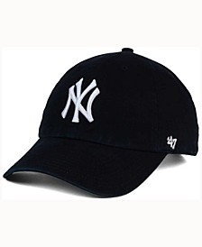 New York Yankees Black White CLEAN UP Cap