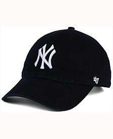 '47 Brand New York Yankees Black White CLEAN UP Cap