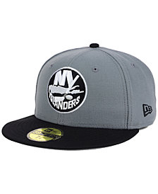New Era New York Islanders Gray Black 59FIFTY Cap
