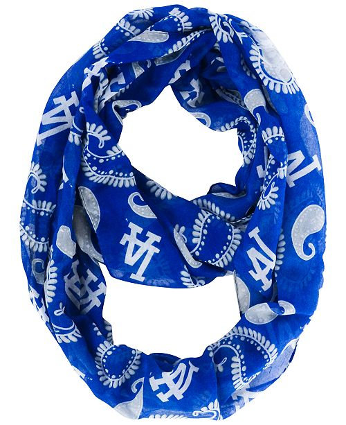 21faf10b9d4 Forever Collectibles Los Angeles Dodgers All Over Logo Paisley Infinity  Scarf