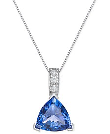 Tanzanite necklaces macys tanzanite 3 12 ct tw and diamond 1 aloadofball Image collections
