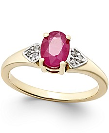 Ruby (1 ct. t.w.) and Diamond Accent Ring in 14k Gold
