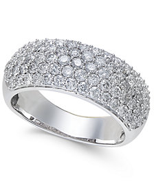 Diamond Wide Pavé Band (1-1/2 ct. t.w.) in 14k Gold or White Gold