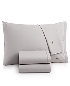 Solid Cotton Percale Pair of Standard Pillowcases