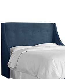 Galvez King Tufted Wingback Headboard, Quick Ship