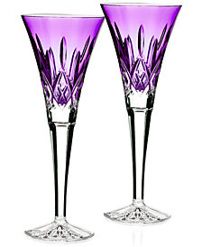 Waterford Stemware Colour Me Lismore Toasting Flutes, Set of 2