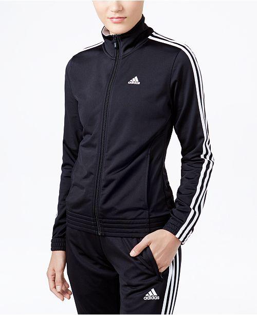 adidas 3-Stripe Track Jacket - Jackets   Blazers - Women - Macy s 6fb3aca9a5f0