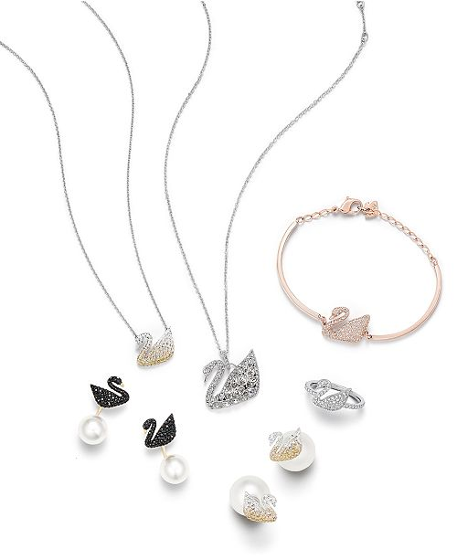 Swarovski Swan Collection - Fashion Jewelry - Jewelry   Watches - Macy s 53877394ef
