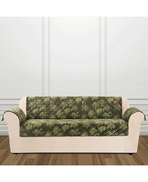 Holiday Motifs Quilted Sofa Slipcover