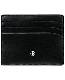 Montblanc Men's Meisterstück Black Leather 6 Pocket Holder 106653