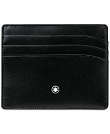 Montblanc Men's Meisterstück Black Leather 6 Pocket Holder 106653