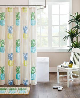 HipStyle Kona Pineapple Shower Curtain, Cotton