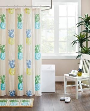 HipStyle Kona Pineapple-Print Cotton Shower Curtain Bedding
