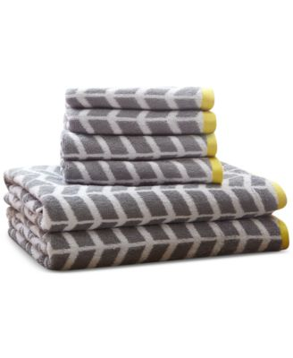 Intelligent Design Nadia 6-Pc Cotton Jacquard Towel Set