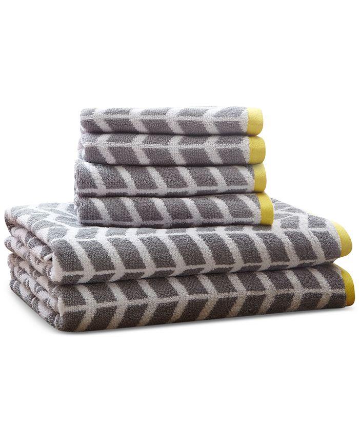 JLA Home - Nadia 6-Pc. Cotton Jacquard Towel Set