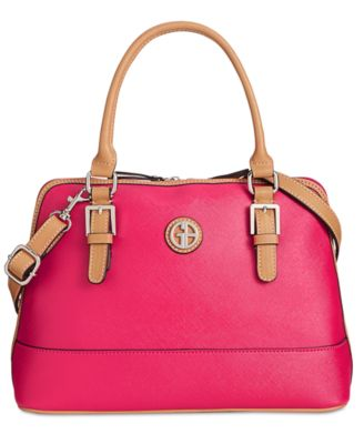 Image of Giani Bernini Saffiano Medium Dome Satchel, Only at Macy's