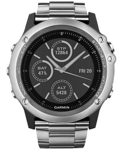 Garmin Unisex Fenix 3 Sapphire Titanium Bracelet Activity Tracking Smart Watch 30mm 010-01338-40