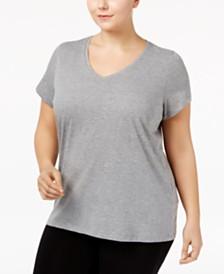 HUE® Plus Size V-Neck Pajama Top