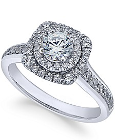 Diamond Engagement Ring (1 ct. t.w.) in 18k White Gold, Created for Macy's