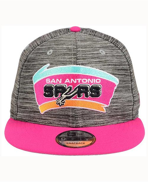 the best attitude dfc6e 0f611 ... New Era San Antonio Spurs Blurred Trick 9FIFTY Snapback Cap ...