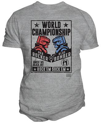 Changes Men's Rock 'Em Sock 'Em Robots Champ Graphic-Print T-Shirt