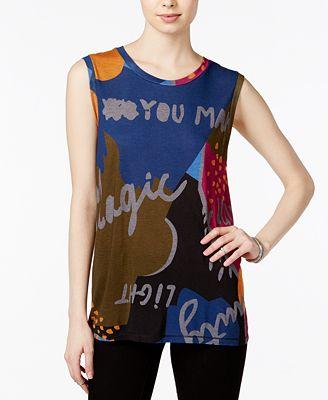 RACHEL Rachel Roy Graphic Tank Top, Created for Macy's