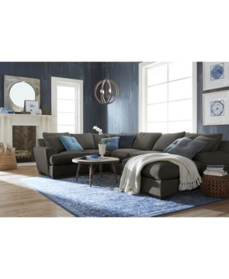 Ainsley Fabric Sectional Collection Created for Macyu0027s  sc 1 st  Macyu0027s : 3 piece sectional sofa with chaise - Sectionals, Sofas & Couches