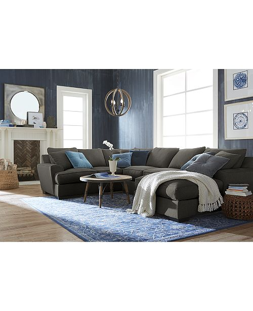 Furniture Ainsley Fabric Sectional Collection, Created For