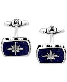 EFFY® Men's Lapis Lazuli (16-1/2 x 12mm) Starburst Cuff Links in Sterling Silver