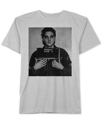 Jem men 39 s elvis presley mugshot graphic print t shirt t for Elvis t shirts for men