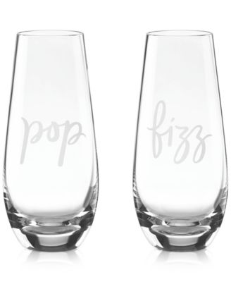 Two of a Kind Pop & Fizz Set of 2 Stemless Champagne Glasses
