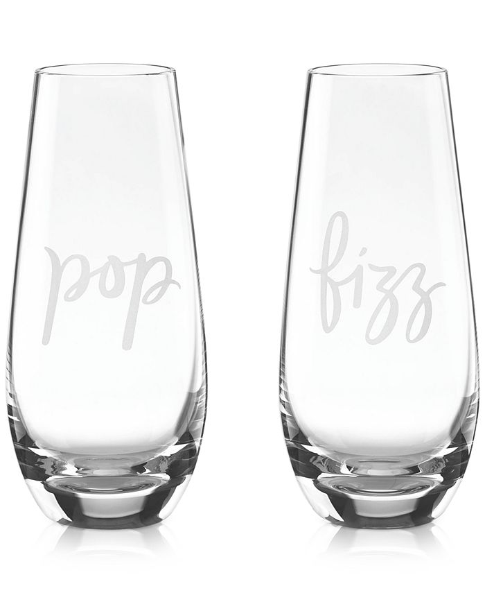 kate spade new york - Two of a Kind Pop & Fizz Set of 2 Stemless Champagne Glasses