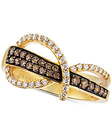 Le Vian Chocolatier® Diamond Statement Ring (1/2 ct. t.w.) in 14k Gold