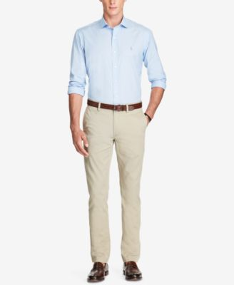 Polo Ralph Lauren Mens Bedford Slim Fit Cotton Chino Pants